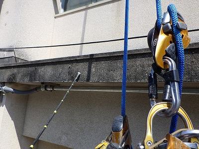 ロープアクセス外壁調査